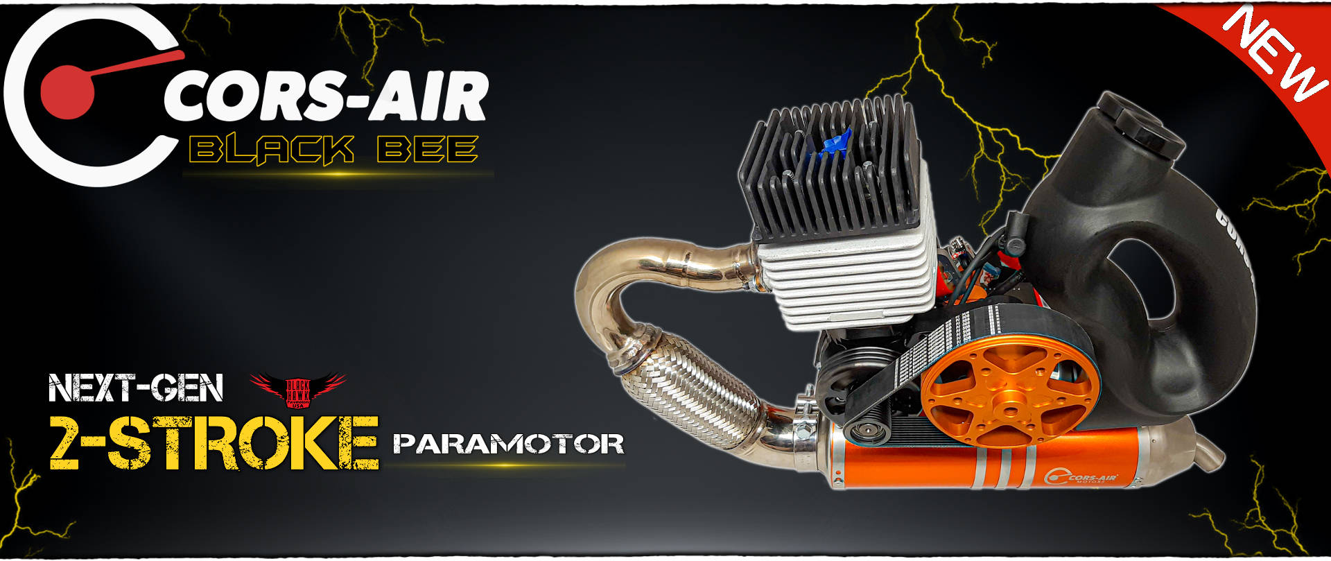 Cors Air Black Bee Paramotor - Available From BlackHawk USA