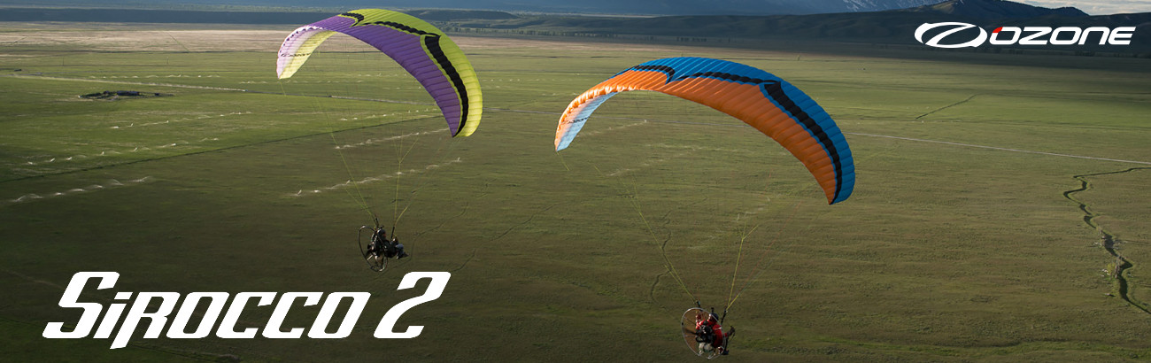 Ozone Sirocco Paraglider For Powered Paragliding & Paramotor