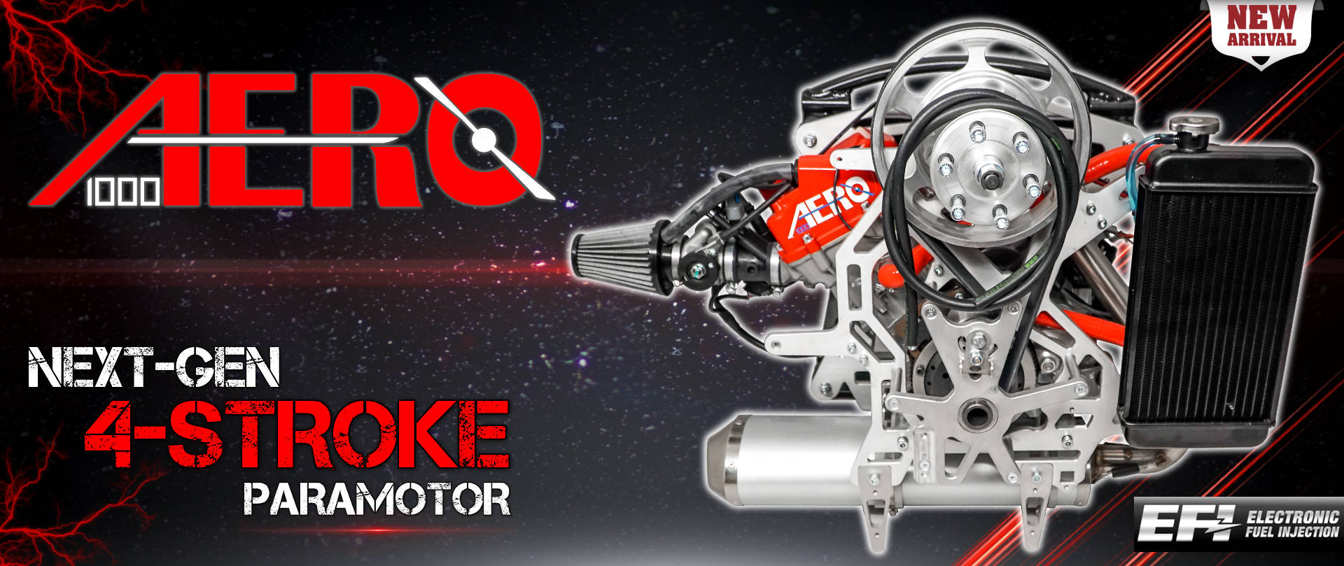 Aero 1000 4-Stroke Paramotor From BlackHawk